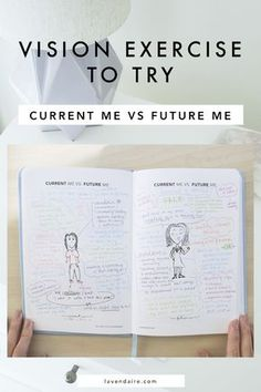 here is a vision exercise you can use to create your dream life: current me vs. future me | CLICK to gain clarity in your life! vision board | self reflection | personal growth | self development | tracking your growth | reflection | dream life | life goals | creativity