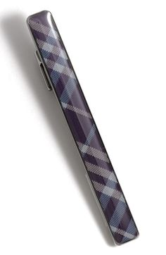 Burberry Blue Check Tie Bar Tie Clip // I want this so hard.