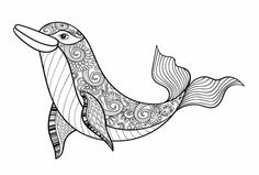 Beautiful Dolphin Doodle - Doodle is Art