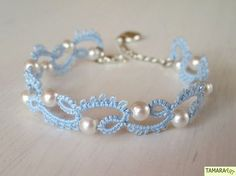 Pearl Tatted Bracelet from  