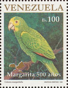Yellow-shouldered Amazon stamps - mainly images - gallery format
