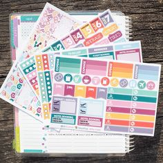Vacation Theme Complete Set Sticker Planner // Perfect for Erin Condren Life Planne by FasyShop on Etsy