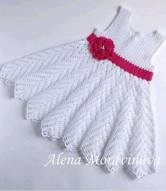 Crochet charming dress for little girls.