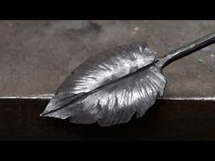 Blacksmithing - Forging a larger decorative leaf - YouTube