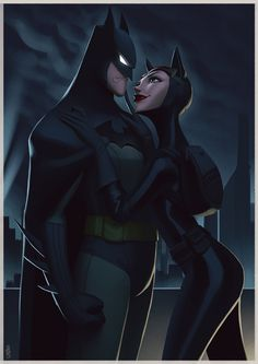 Batman and Catwoman, Leandro Franci on ArtStation at https://www.artstation.com/artwork/23nve