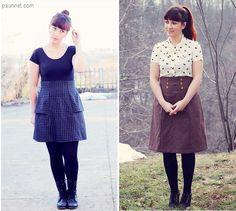 :: paunnet ::: Pattern testing : Deer and Doe Anémone skirt