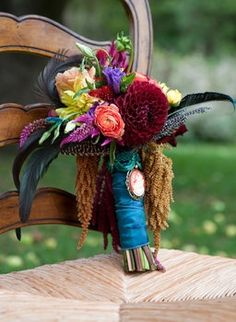 Wedding Bouquet! I really love all of the colors!!