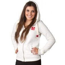 Shop Women's Full Zip Hoodie.Semi fitted,the hoodie offers both quality and comfort,incorporating a stylish chunky brass zip with ecru taping.Visit here http://www.lim-clothing.co.uk/Hoodies?product_id=64
