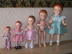 Ma petite famille Patsy....il  me manque 1 très grande de 56cm: Patsy Lou...