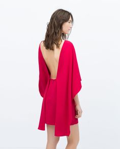 19c7a890b6540 CAPE DRESS WITH LOW BACK - View all - Dresses - WOMAN