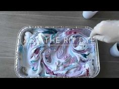 DIY marble dye canvas sneakers with Rit Dye and shaving cream