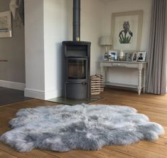 Extra Large Six Skin To Sheepskin Rug Silver Grey Gray Genuine Throw By