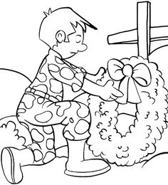 Remembrance Day Of The Death Coloring Page