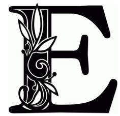 Silhouette Design Store: vine monogram e Silhouette Design, Silhouette Cameo Projects, Kirigami, Caligraphy Alphabet, Vine Monogram, Alphabet Design, Quilling Patterns, Illuminated Letters, Letter Art