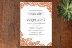 Bold Block Print Wedding Invitations by Katharine Watson at minted.com