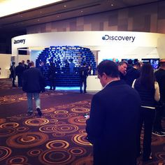 Discovery Communications Activation: Discovery Communications showcased a virtual-reality pod that allowed attendees to test out Discovery VR. The booth, designed by Tangram International Exhibitions, was part of the show's experiential program called C Space.
