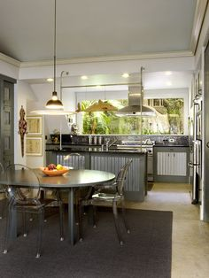 kitchen cabinet doors of corrugated metal
