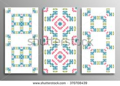 Set Vintage universal different seamless eastern Patterns (tiling). Endless texture can be used for wallpaper, pattern fill, web page background, surface textures clothes. Retro geometric ornament. - stock vector