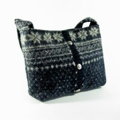 Upcycled Sweater Purse   ... purse or small tote (OOAK) from upcycled fair isle sweater. on Etsy