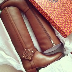 Tory burch riding boots... I'll take a pair in black too please