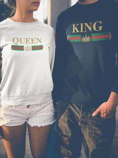 a8f22155b King Queen Sweatshirts, Matching Sweatshirts, Couples Sweatshirts, King and  Queen Sweaters, Couples