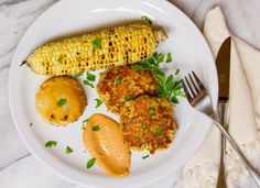 Island Trollers Tuna Cakes with Comeback Sauce, Corn on the Cob, and Biscuits Life Currents https://lifecurrents.dw2.net #easy #dinner #tuna