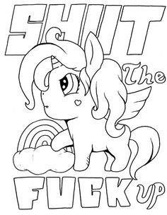 Unicorn - Adult Coloring page - swear. 14 FREE printable coloring pages, Visit swearstressaway.com to download and print 14 swear word coloring pages. These adult coloring pages with colorful language are perfect for getting rid of stress. The free printable coloring pages that are given change, so the pin may differ from the coloring pages give at swearstressaway.com #coloring #art #loveit