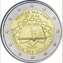 moneda Holanda 2 euros 2007 Tratado de Roma, Tienda Numismatica y Filatelia Lopez, compra venta de monedas oro y plata, sellos españa, accesorios Leuchtturm
