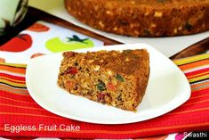 Eggless christmas fruit cake recipe with video & photos. Soft, moist, flavorful &delicious fruit cake made without egg. A beginners' recipe to try! Indian Fruit Cake Recipe, Eggless Fruit Cake Recipe, Indian Food Recipes, Vegan Recipes, Boiled Fruit Cake, Kerala Food, Delicious Fruit, Vegan Cake, How To Make Cake