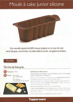 Fiche recette Moule à cake junior 1/2 - Tupperware : Terrine de foie gras