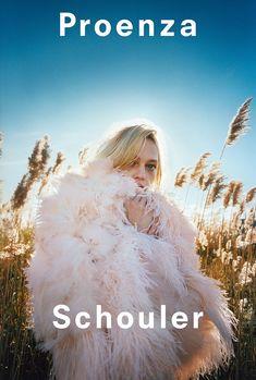 Sasha Pivovarova poses outdoors in Proenza Schouler's spring-summer 2018 campaign