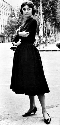 Audrey Hepburn wearing Givenchy, 1956.