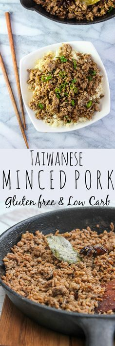 Taiwanese minced pork gluten free & low carb with a paleo option mince Mince Recipes, Pork Recipes, Asian Recipes, Cooking Recipes, Ethnic Recipes, Asian Foods, Chinese Recipes, Family Recipes, Chinese Food