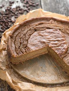 true taste hunters - kuchnia roślinna: Kawowy sernik jaglany (wegański, bezglutenowy, bez cukru)