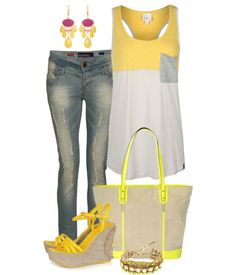 Yellow and casual