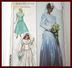 VINTAGE Bridal Gown Sewing Pattern Wedding by VintagePatternsDepot