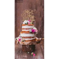 Personalized Rustic Wooden Wedding Cake Topper