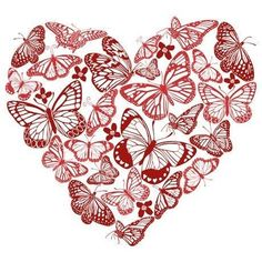 Lessons for Love: 5 Researched Tips That Will Help You Put The Spark Back In Your Marriage Butterfly Drawing, Red Butterfly, Butterfly Kisses, Butterflies, Butterfly Cross Stitch, Heart In Nature, Heart Art, Valentines Day Hearts, Valentine Day Love