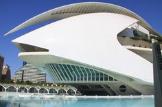Palau de les Arts is the Opera House in Valencia and looks like a huge beetle covered in white mosaic pieces. It is the tallest Opera House in the world.