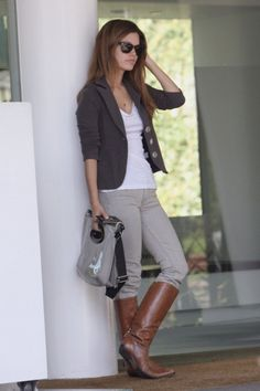 white tee, love the blazer, sunglasses, my kinda casual chic