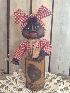 Primitive Grungy Mammy Doll Folk Art #NaivePrimitive