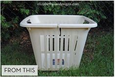 How to Turn an Old Laundry Basket into a New Big Planter » Curbly | DIY Design Community