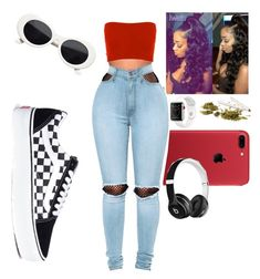 """Be like the cool kids"" by j0rrddaann on Polyvore featuring WithChic, Vans and Beats by Dr. Dre"