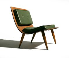Pair 50's Mid Century Modern Carter Plywood Scoop Lounge Chairs   eBay
