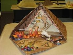 Ancient Egypt Comes Alive! Building a Model Pyramid This is a great project to do with your students when studying Ancient Egypt! Students are able to create their own model pyramid. I have included the step by step directions on how to contruct one. Ancient Egypt Activities, Ancient Egypt Crafts, Ancient Egypt For Kids, Egyptian Crafts, Ancient Egyptian Art, Ancient Egypt Lessons, Ancient Egypt Fashion, Egyptian Pyramid, Ancient Aliens