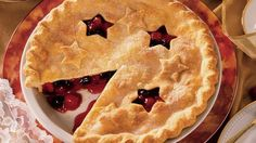 Cherry-Blueberry Pie What's better than a blueberry or cherry pie? One that stars both fruits wrapped in an easy Pillsbury® pie crust. Cherry Blueberry Pie Recipe, Blueberry Pies, Blueberry Crumble, Blueberry Recipes, Pie Recipes, Dessert Recipes, Salad Recipes, Delicious Desserts, Summer Pie