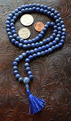 Sodalite Handmade Mala Beads Necklace - Blessed & Energized Karma Nirvana Meditation 6 mm 108 Prayer Beads For Awakening Chakra Kundalini