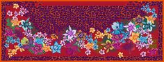 Scarf Wild Cat - colour: red-pink (Moremi)