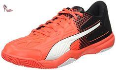 Puma Evospeed Indoor 5.5, Chaussures de Fitness Mixte Adulte, Rouge-Rot (Red Blast-White-Black 01), 46 EU - Chaussures puma (*Partner-Link)