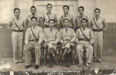 Senior ROTC Cadet Corps Officers, Camarines Sur High School, Ragay, 1938 Sourced from the Veluz Family. Rotc, Class Pictures, Pinoy, Over The Years, High School, Grammar School, High Schools, Secondary School, Middle School